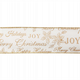 Groves Wire Edge Ribbon: Cream with Gold Assorted Greetings 63mm